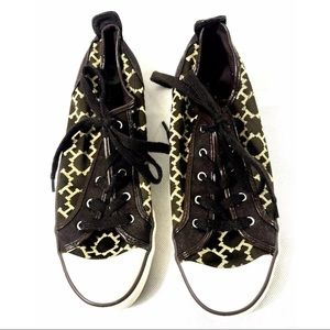 Tommy Hilfiger Patterned Sneakers Shoes 9 Brown